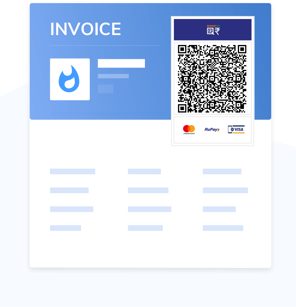 illus-Dynamic QR printed on Invoice / Bills