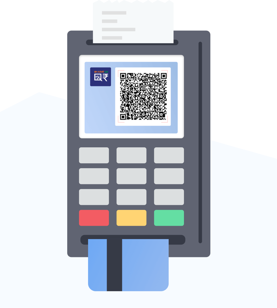 illus-Dynamic QR on POS Machines (Mobile/ Checkout counters)
