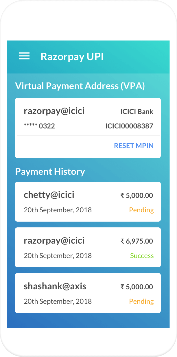 Razorpay · UPI | Now accept UPI payments through BHIM, PhonePe ...