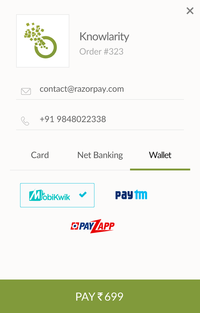 Razorpay · Power Wallet